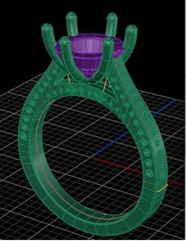 mock jewelry CAD image